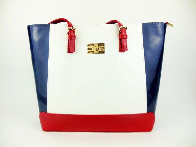 79d815cafe Mantrani cipő webshop | Claudio Dessi női táska kék/fehér/