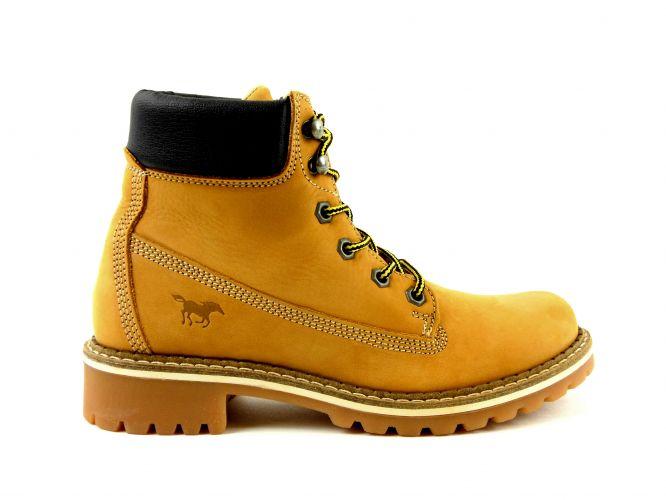 Mantrani cipő webshop Mustang női bakancs mustársárg 57690f3930
