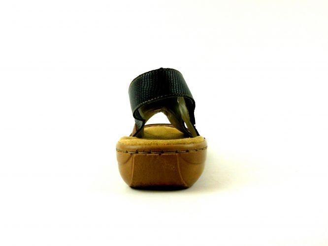 Rieker női bőr szandál 608S4 00 fekete kombi | Cipők, Fekete