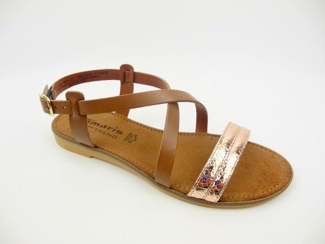 487d5a80c8 Mantrani cipő webshop | Tamaris női szandál barna/rózs